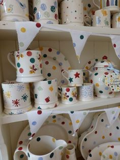 Emma Bridgewater POLKA DOT Emma Bridgewater Pottery, Different Patterns, Design Crafts, Old And New, Tea Pots, Kitchen Dresser, Polka Dots, House Goals, Carpe Diem
