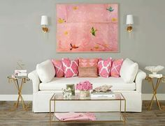 Top 10 Pink Living Room Color Schemes For Valentine's Day More Romantic Decor, Pink Living Room Decor, Living Room Colors, Decor Design, High Fashion Home, Home Decor, Room Decor, Apartment Decor, Home Deco