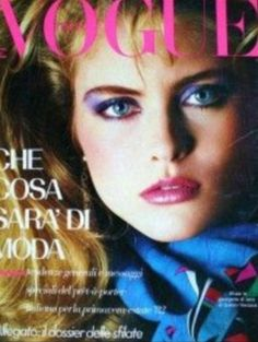 Kim Alexis covers Vogue magazine ( Italy) January 1982