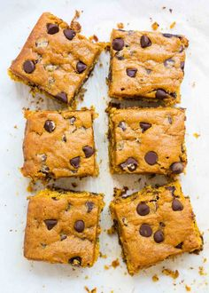 These Pumpkin Blondies are everything I love about fall. These bars are thick, chewy, and soft all at the same time. They have the perfect hint of pumpkin spice and chocolate in every bite!