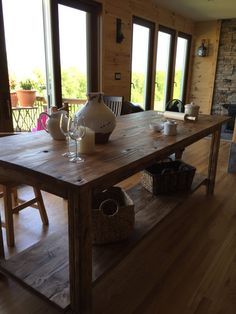 Farmhouse Style Kitchen Island by DownHomeLiving on Etsy