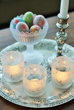 Pretty Candle Holders, Table Settings, Candles, Pretty, Ideas, Porta Velas, Place Settings, Chandelier, Pillar Candles