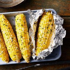This flavorful corn couldn't be easier to prepare. Just cover the ears of corn in a quick garlic-and-chive-flavored butter and wrap in foil and they're ready to throw on the grill at home or over coals at the campsite.