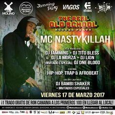 """El Molino & Jamming Party presentan: """"The Real Old School – Reggae Party con MC Nasty Killah"""" http://crestametalica.com/evento/el-molino-jamming-party-presentan-the-real-old-school-reggae-party-con-mc-nasty-killah/ vía @crestametalica"""