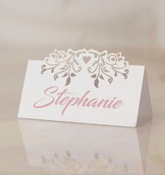 Blooming Hearts name place cards will take pride of place at your reception, complimenting your wedding table decor. They present a precisely cut blooming hearts design that's styled on pretty pearlised card. Wedding Table, Wedding Day, Name Place Cards, Thank You Gifts, Wedding Accessories, Big Day, Compliments, How To Memorize Things, Pride