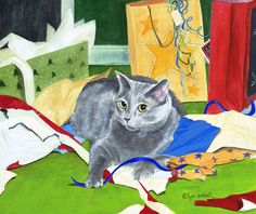 Lyn Estall - Merry Cat Mess!♥•♥•♥
