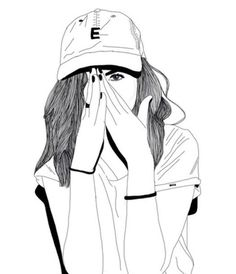 outline tumblr girls black and white - Google Search