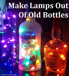 How To Make a Lamp Out Of An Old Bottle Easy Fun DIY Project