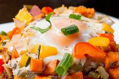 Here's a video showing you how to make it:   This Sweet Potato Hash Is The Easy, Heart Breakfast From Your Dreams