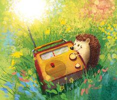 ArtStation - Hedgehog and radio, Aleksander Jasiński