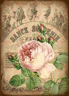 Roses and Music Tags DIGITAL ATC ACEO Collage Sheet Download and Print Paper Crafts Card 515a. $5.00, via Etsy.