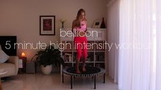5 Minute Fat Burning bellicon Interval Training Workout!