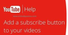 How to add #Subscribe button to #YouTube videos