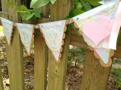 Baby Shower Banner ; Shabby Chic Baby Shower ; Pink and Mint  By SharingAPassionINC on Etsy
