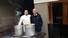 Marco Eugenio Di Giandomenico e lo chef milanese Daniel (Milano, novembre 2014)
