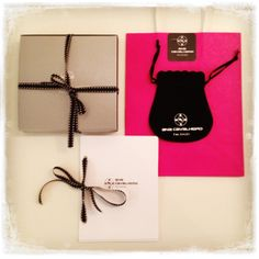 All about the package.  Jewelry boxed and special thank you cards ACJ Jewelry studio www.anacavalheiro.com #gems, #jewelry studio #jewelry displays # jewelry inspiration # jewelry tools #jewelry packaging