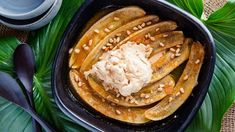 For a banana lover this is the ultimate dessert. A little sweetness with a hint of orange and crunch of pine nuts. Miso and banana is a surprisingly great combo. and icecream is a must to finish it off. I guarantee there will be none left. Pine Nut Recipes, Baked Banana, Banana Recipes, Other Recipes, Dishes, Orange, Baking, Eat, Breakfast