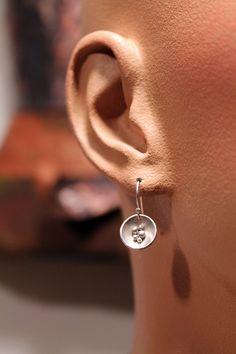 Sterling Silver Seed Pod Dangle Earrings by OnocleaStudios on Etsy, $45.00