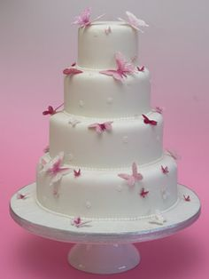 Wedding Cakes With Butterflies