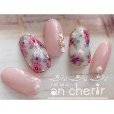 Asian Nail Art, Asian Nails, Japanese Nail Design, Japanese Nails, Bling Nails, Red Nails, Cute Nails, Pretty Nails, Korea Nail