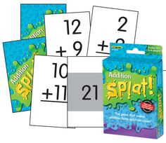 "As the caller reads each subtraction answer aloud, players scan the cards in front of them. If a player has a matching problem, he or she says ""SPLAT!"" and flips the card over. The first player to flip over all of his or her card wins. Aligned to the Common Core Standards, game cards are color-coded to allow for differentiation. Comes in subtraction, as well!"