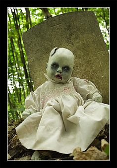 Be very afraid! This would be scary sit against a fake grave. Haunted Forest at my farm maybe?