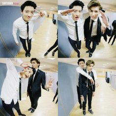 Find images and videos about kpop, exo and chanyeol on We Heart It - the app to get lost in what you love. Chanyeol Baekhyun, Exo K, Park Chanyeol, Tao Exo, Exo Ot12, Kaisoo, Chanbaek, Exo Memes, 2ne1