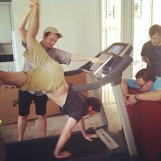 Markiplier, Bob, Daniel, and I don't know who's the one on the treadmill.