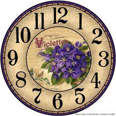 3 (699x700, 406Kb) Decoupage Vintage, Vintage Maps, Clock Face Printable, Clock Flower, Unusual Clocks, Clocks Back, Wall Clocks, Handmade Clocks, Cd Crafts