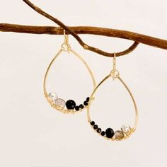 Sonjarenee Gold Teardrop Earrings from Sage Accessories
