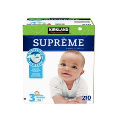 """Prepare for all those proud-parent, photo-worthy moments and outfit your baby in Kirkland Signature™ supreme diapers as they learn to roll, crawl, stand and walk. We give these an """"A+"""" for comfort, fit and reduced leakage."""