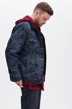 Levi's® x Justin Timberlake Faux Shearling Collar Trucker Jacket Justin Timberlake News, The Fashionisto, Get Fresh, Sexy Men, Long Sleeve Shirts, Menswear, Mens Fashion, Swag Fashion, Denim