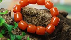 Beeswax colored resin large barrel beads mala bracelet | shangrilacraft - Jewelry on ArtFire  http://www.artfire.com/ext/shop/product_view/9659809