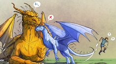 Glaedr and Safira - poor Eragon :):)