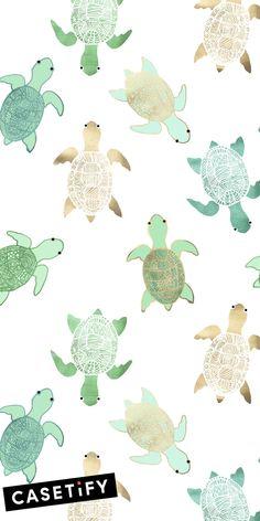 Gilded Jade & Mint Turtles Leggings by Tangerine-Tane - Medium Iphone Wallpaper Ocean, Wallpaper Iphone Quotes Backgrounds, Cute Tumblr Wallpaper, Love Wallpaper, Aesthetic Iphone Wallpaper, Aesthetic Wallpapers, Alice In Wonderland Drawings, Temporary Wallpaper, Cute Patterns Wallpaper