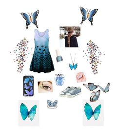 """""""Butterfly casual outfit!🦋💕🦋😃🦋"""" by beautykittycat16 on Polyvore featuring Stephen Webster, Valentino, Casetify, Thierry Mugler and NOVICA"""