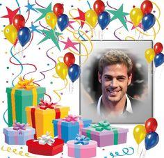 Happy Birthday Wishes Photos, Happy Birthday Frame, Birthday Photo Frame, Happy Birthday Card Design, Birthday Frames, Happy Birthday Cards, Birthday Greetings, Feliz Compleanos, Happy 1st Birthdays