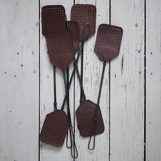 $24 Leather + Steel Fly Swatter