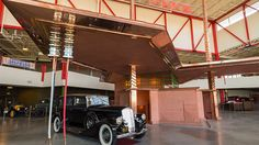 Rare Frank Lloyd Wright Gas Station Brought to Life - unbuilt design for Buffalo Filling Station created at the Buffalo Pierce-Arrow Museum
