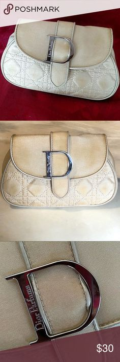 Dior Parfums clutch bag New, never wear it Can wear it beautiful as clutch or make up It's light gold or light beige with gold tones It's VIP bag  Does not have cards Dior Bags Clutches & Wristlets