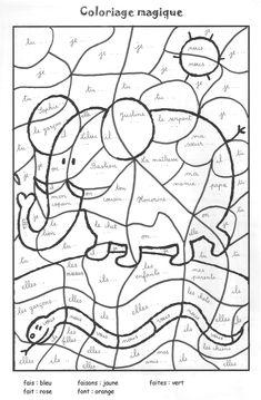Coloriage magique ce1 conjugaison coloriage magique cp grammaire cours pinterest coloriage - Coloriage magique imparfait ...