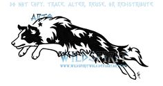 These are beautiful! Starry Leaping Border Collie by WildSpiritWolf on deviantART