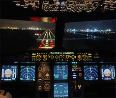 A320-cockpit-night - Runway - Wikipedia, the free encyclopedia - by Fyodor Borisov