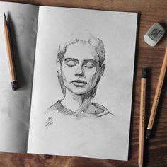 Sketchbook    #face #portrait #sketch #sketching #sketchbook #paper #pencil #draw #drawing #art #pencilsketch #pencildrawing #pencilart #miro_z #arts_help #beautifulbizarre #artcomplex #drawingthesoul #artist_4_shoutout #onyxkawai