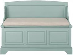 Home Decorators Collection Sadie Antique Blue Storage Bench with Back Hall Bench With Storage, Entryway Bench Storage, Storage Benches, Deacons Bench, Foyer Bench, Bench With Back, Kitchen Benches, Diy Furniture, Entryway Furniture