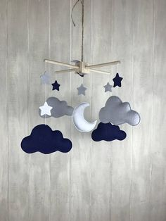 Baby mobile moon and star mobile cloud mobile sky mobile