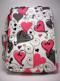 Zippered Book Cover Hearts by IvoryTowerDesigns on Etsy, $35.00