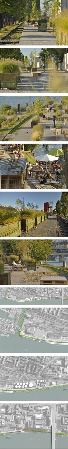 Fontana Landschaftsarchitektur - Basel - Landschaftsarchitekten  Klybeckquai