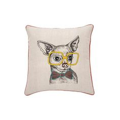 FUNNY STRIPED Coussin chien, funny striped, coussin, chien, coussin, chien, literie, coussin décoratif, decoration, deco, zaxe, chambre, salon, dix30