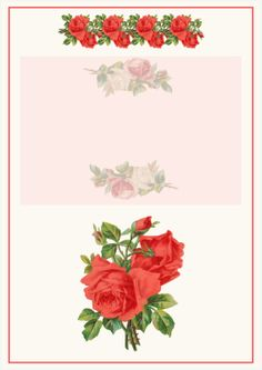 FREE printable vintage rose stationery (perfect for mother's day)
